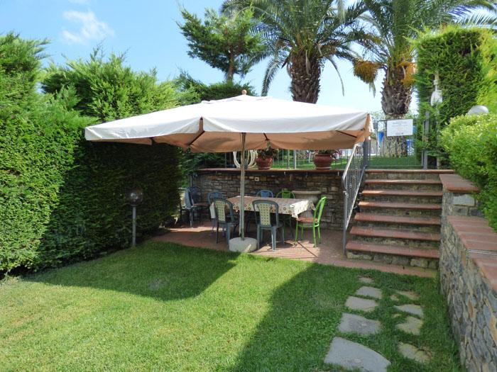 Agriturismolecasette for Piscina in un giardino piccolo